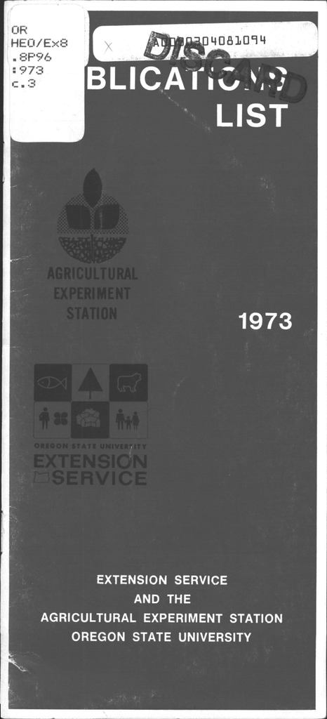 UBLICA1I  LIST 1973 lI I