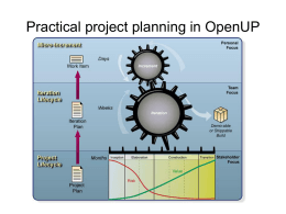 Practical project planning in OpenUP