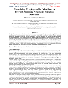 packet hiding method for preventing selective jamming attack Packet-hiding methods for preventing selective jamming attacks alejandro proano and loukas lazos˜ dept of electrical and computer engineering, university of arizona, tucson, az, usa.