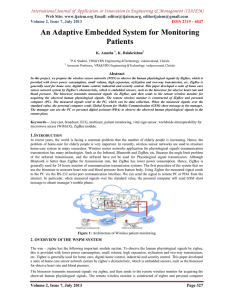 An Adaptive Embedded System for Monitoring Patients Web Site: www.ijaiem.org Email: ,