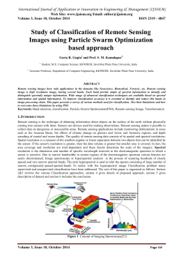 Study of Classification of Remote Sensing Images using Particle Swarm Optimization