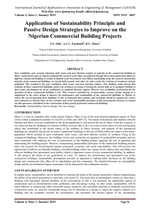 Application of Sustainability Principle and Nigerian Commercial Building Projects