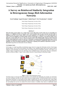 A Survey on Reinforced Similarity Integration in Heterogeneous Image-Rich Information Networks