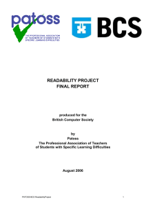 READABILITY PROJECT FINAL REPORT