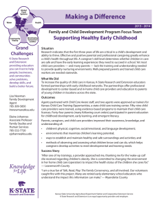 Making a Difference Supporting Healthy Early Childhood Grand Challenges
