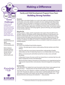 Making a Difference Building Strong Families Grand Challenges
