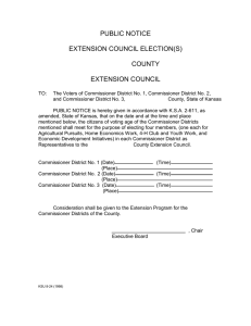 PUBLIC NOTICE EXTENSION COUNCIL ELECTION(S) COUNTY EXTENSION COUNCIL