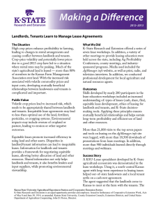 Making a Difference  Landlords, Tenants Learn to Manage Lease Agreements