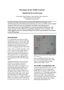 The future of Air Traffic Control? - Digitalizing the mental image