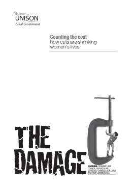 Counting the cost how cuts are shrinking women's lives WARNING: