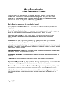 Core Competencies K-State Research and Extension