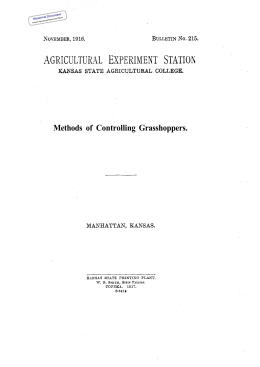 Methods Controlling  Grasshoppers. of Historical Document