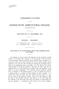 KANSAS STATE AGRICULTURAL COLLEGE, EXPERIMENT STATION BULLETIN NO. 41—DECEMBER, 1893.