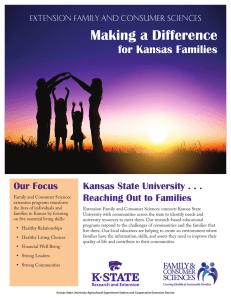 Making a Difference  for Kansas Families Our Focus