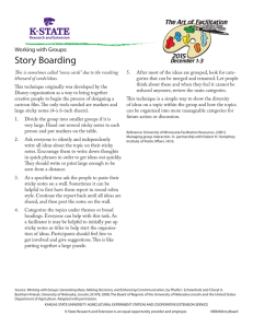 Story Boarding Working with Groups: