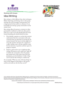 Idea Writing Working with Groups: