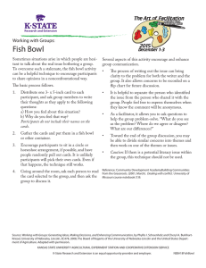 Fish Bowl Working with Groups:
