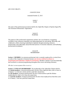 (09/15/2015 DRAFT) CONSTITUTION  Amended October 22, 2013