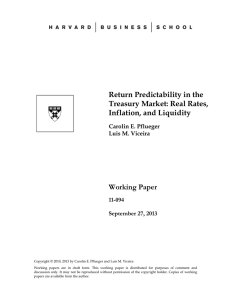 Return Predictability in the Treasury Market: Real Rates, Inflation, and Liquidity Working Paper