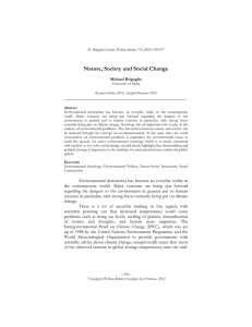 Nature, Society and Social Change  Michael Briguglio