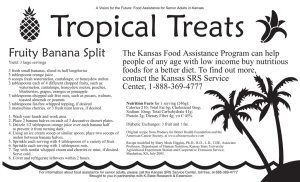 Tropical Treats Fruity Banana Split