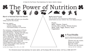 The Power of Nutrition MyPyramid Puzzle March is National Nutrition Month
