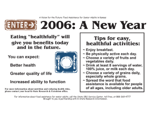 "2006: A New Year Tips for easy, healthful activities: Eating ""healthfully"" will"