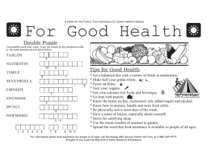 For Good Health Double Puzzle