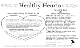 Healthy Hearts Know the Signs of a Heart-Healthy Eating for Senior Adults