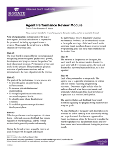 Agent Performance Review Module