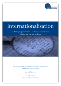 Internationalisation A Briefing Report from the 11 Annual Conference on
