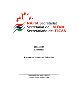 2006-2007 Estimates Report on Plans and Priorities