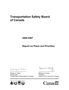 Transportation Safety Board of Canada 2006-2007