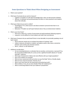 Some Questions to Think About When Designing an Assessment