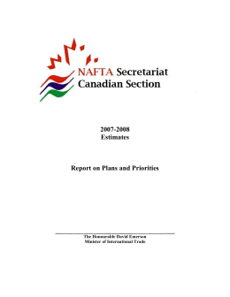 2007-2008 Estimates Report on Plans and Priorities