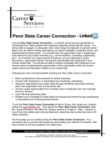 Penn State Career Connection -