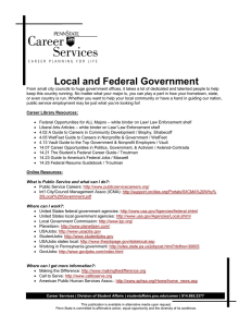 Local and Federal Government