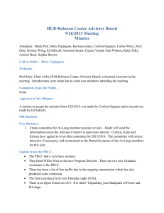 HUB-Robeson Center Advisory Board 9/26/2013 Meeting Minutes