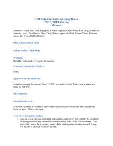 HUB-Robeson Center Advisory Board 12/13/2013 Meeting Minutes