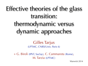 Effective theories of the glass transition: thermodynamic versus dynamic approaches