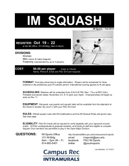 IM  SQUASH Oct  19 -  22 REGISTER: