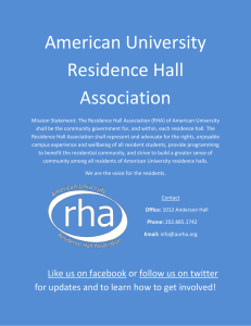 American University Residence Hall Association
