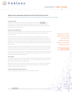 customer case study Tableau Drives Operations Performance for Financial Services Firms