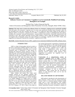 Advance Journal of Food Science and Technology 9(1): 72-75, 2015