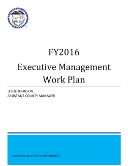 FY2016 Executive Management LESLIE JOHNSON,
