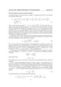 Lecture notes: Statistical Mechanics of Complex Systems Lecture 7-8