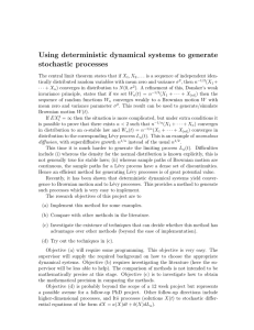 Using deterministic dynamical systems to generate stochastic processes