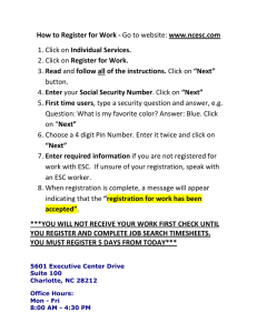 How to Register for Work - Individual Services. Register for Work. Read