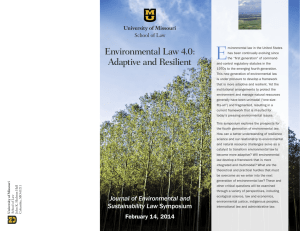 E Environmental Law 4.0: Adaptive and Resilient
