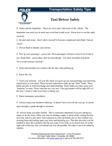 Taxi Driver Safety Transportation Safety Tips 1